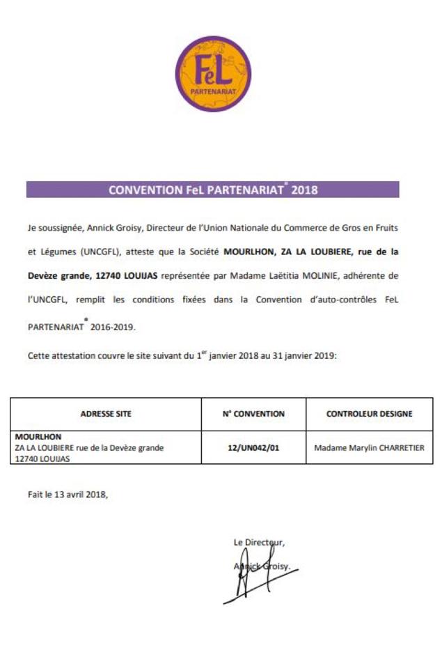Convention Fel partenariat